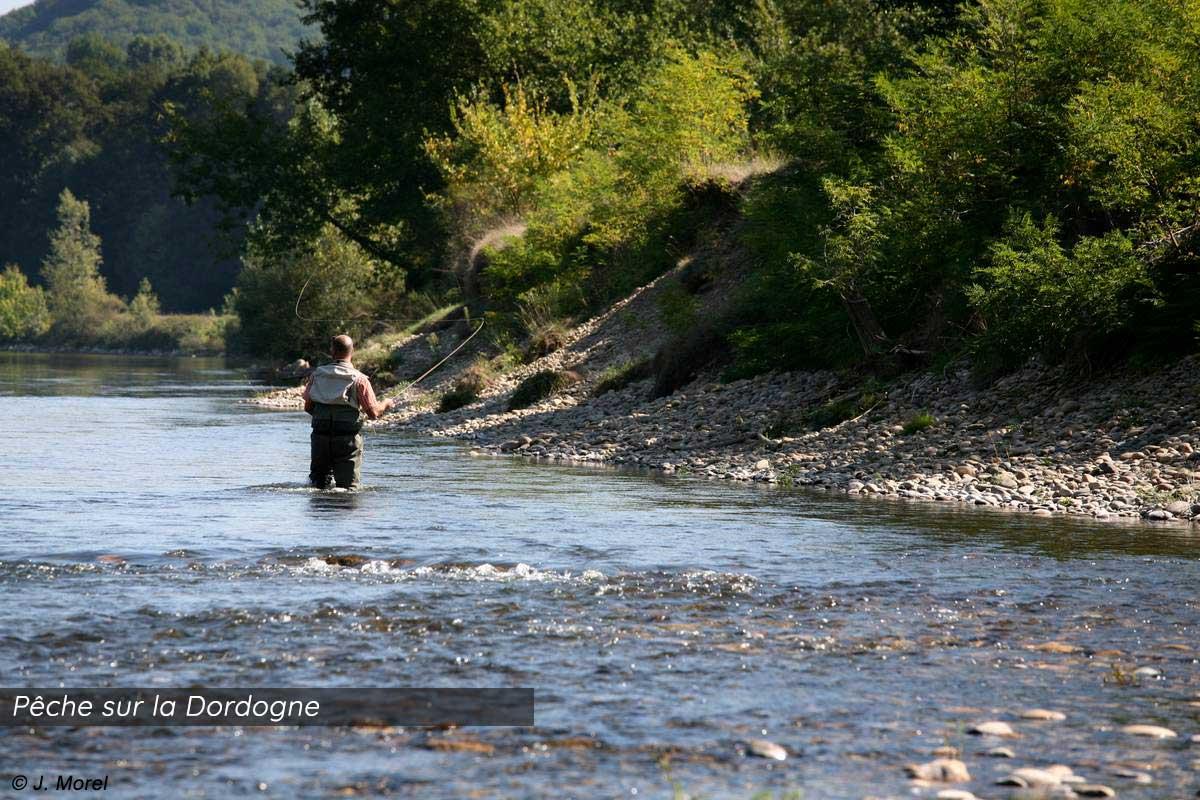 Pêche sur la Dordogne